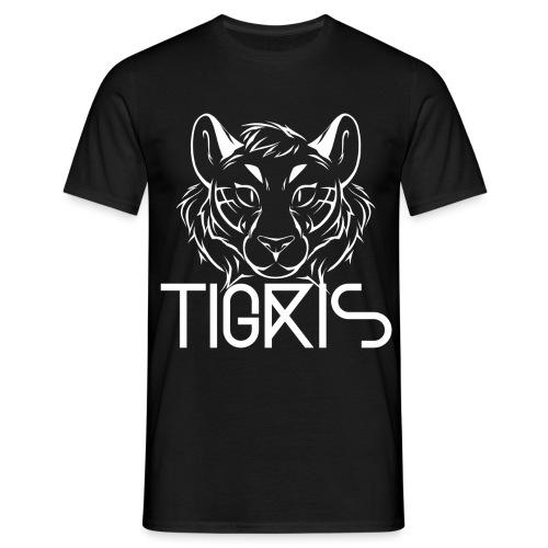 Tigris Logo Picture Text White - Men's T-Shirt