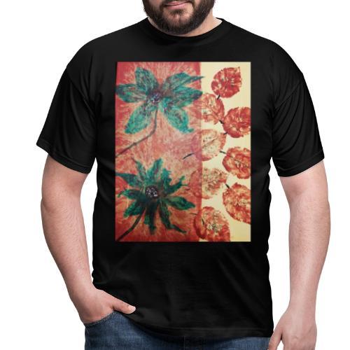 Herbstblumen - Männer T-Shirt