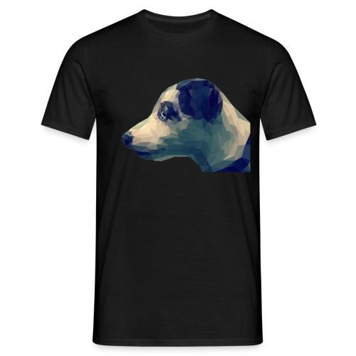 Hund Kopf Illustration - Männer T-Shirt