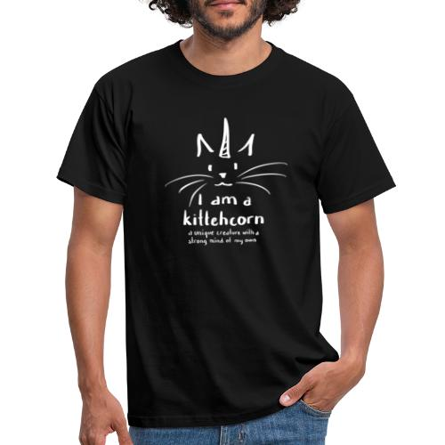 I am a kittehcorn - white - Men's T-Shirt