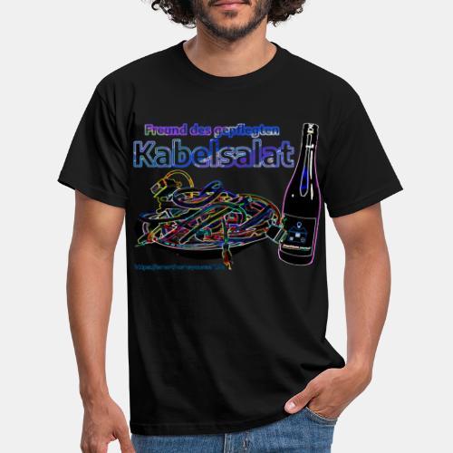 Freund des gepflegten Kabelsalat - Neon - Männer T-Shirt