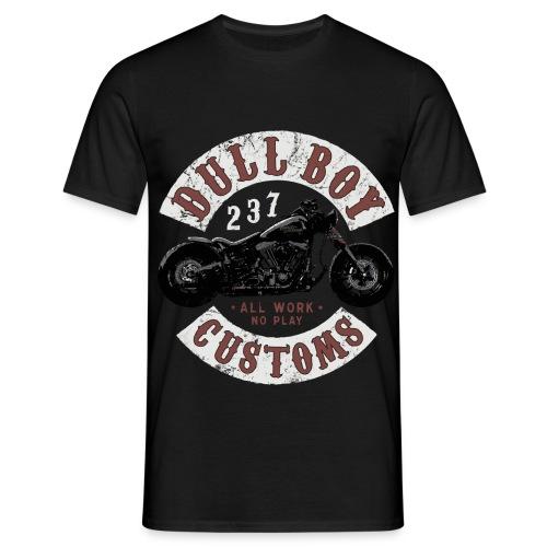 Dull Boy Customs patch two sides - T-skjorte for menn