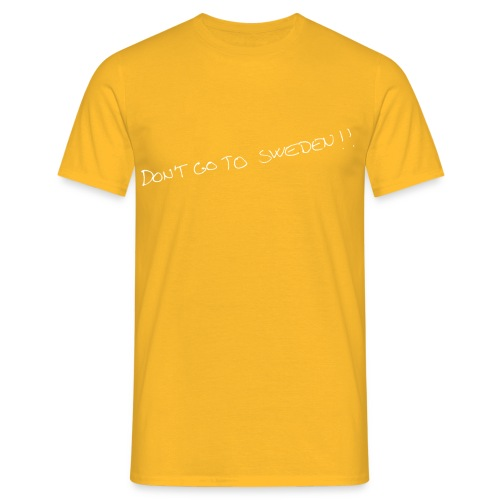 don t go to sweden hvid png - Herre-T-shirt