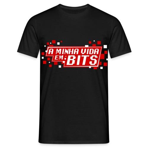 AMinhaVidaemBits Logo - Men's T-Shirt