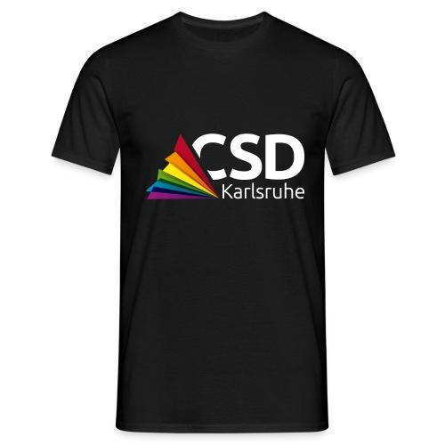 Logo CSD Karlsruhe (weiß) - Männer T-Shirt