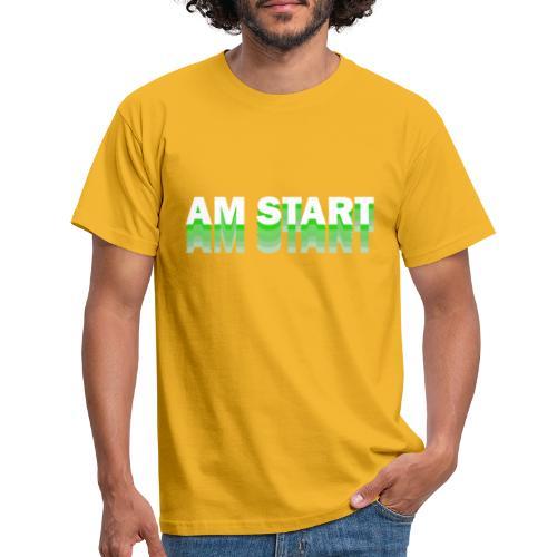 am Start - grün weiß faded - Männer T-Shirt