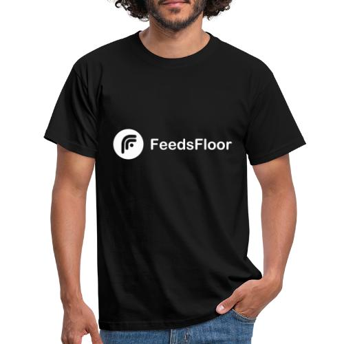 FeedsFloor Horizon - white logo - Men's T-Shirt