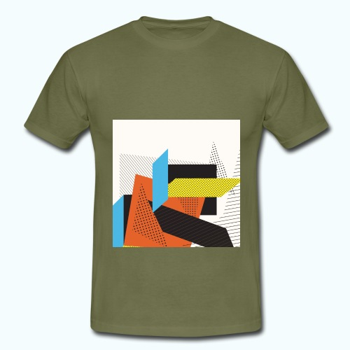 Vintage shapes abstract - Men's T-Shirt