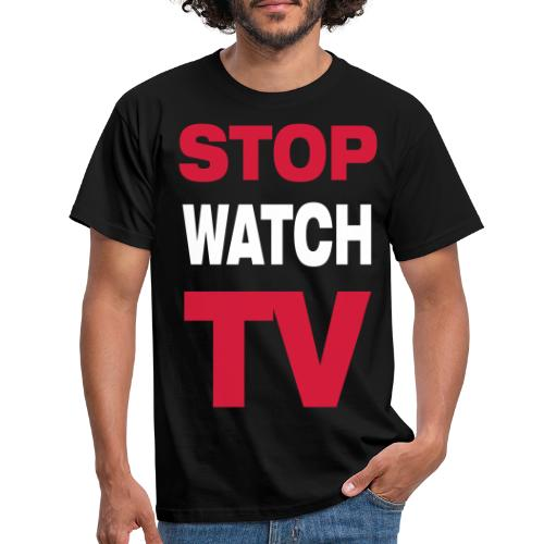 STOPWATCHTV LARGE (PIX) - T-shirt Homme