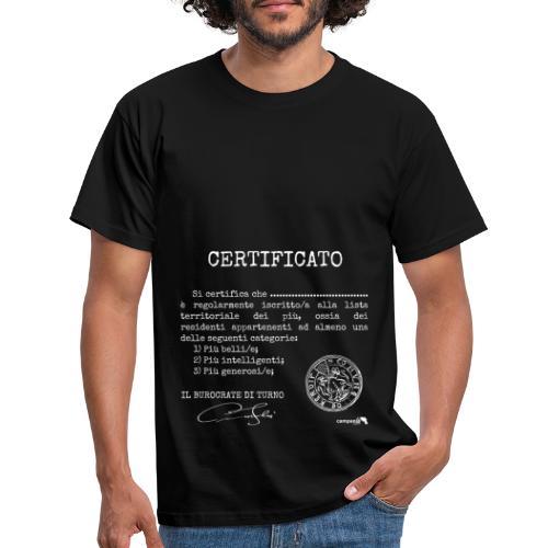 1.07 Certificato Piu Generico B (Aggiungi nome) - Maglietta da uomo