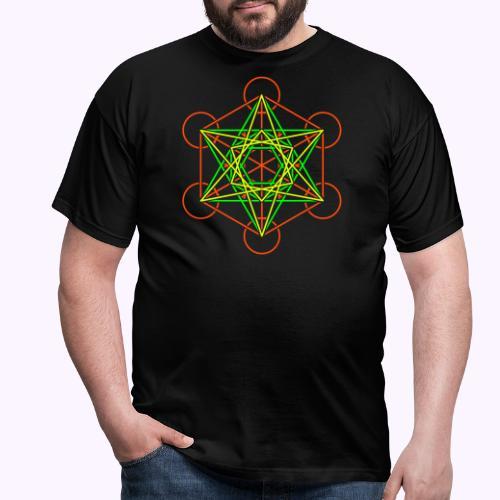 Metatron Cube 2 Color - Camiseta hombre