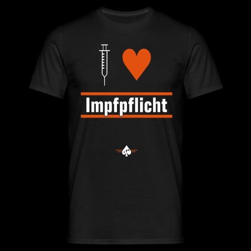 I ♥ Impfpflicht - Männer T-Shirt