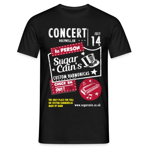 concert-black - Men's T-Shirt