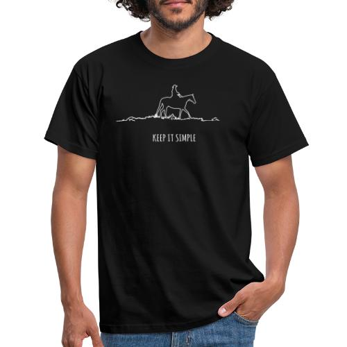 Keep it simple Western - Männer T-Shirt