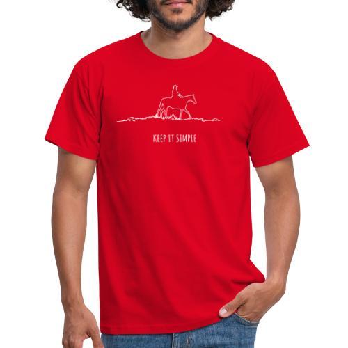 Keep it simple Western - Männer T-Shirt