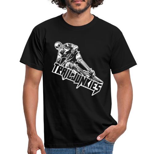 Trailjunkies Downhill Skull - Männer T-Shirt