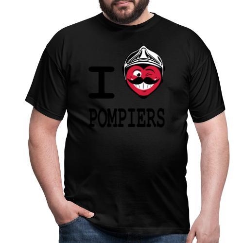 i_love_pompier_4 - T-shirt Homme