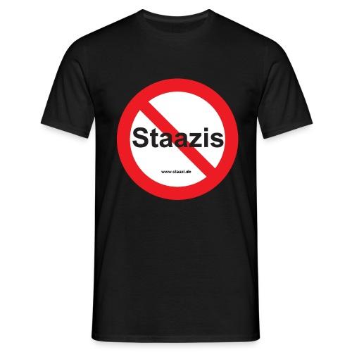 Staazis Verboten - Männer T-Shirt