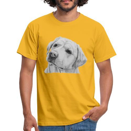labrador retriever yellow - head - Herre-T-shirt
