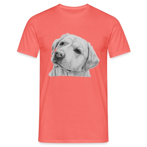 labrador retriever yellow - head - Herre-T-shirt