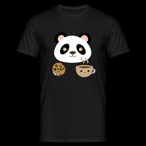 Oso Panda Merendando - Camiseta hombre