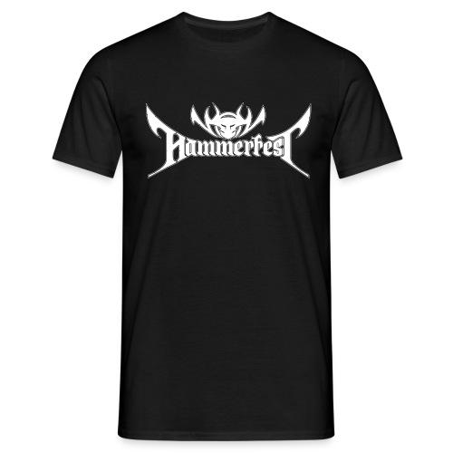Hammerfest Logo Weiss - Männer T-Shirt