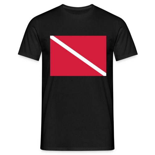 Diver Flag - Men's T-Shirt