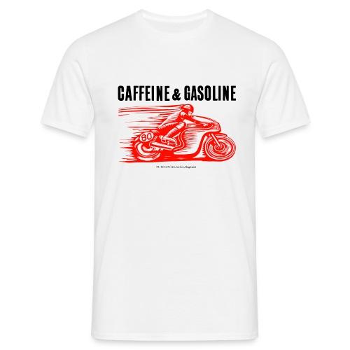 Caffeine & Gasoline black text - Men's T-Shirt