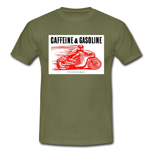 Caffeine & Gasoline black text - Men's T-Shirt