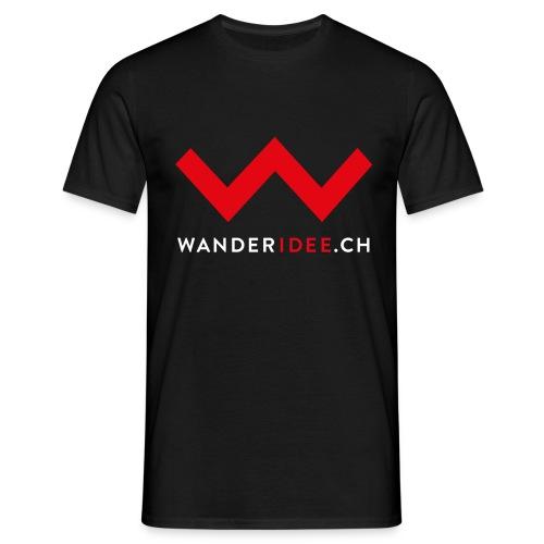 wanderidee nur w mit web - Männer T-Shirt