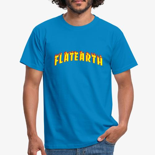 Flat Earth Trasher Burn - Men's T-Shirt