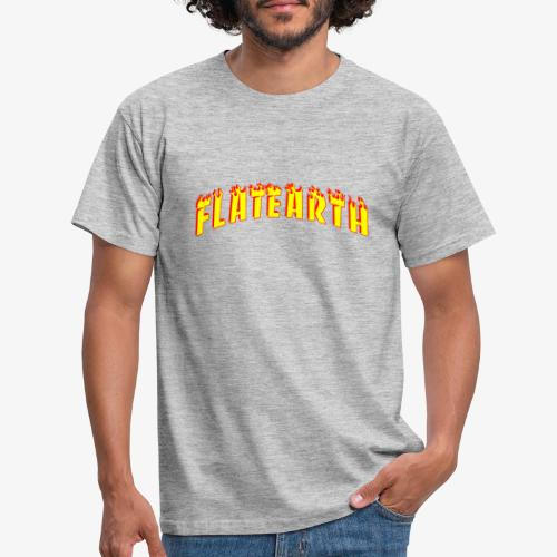 Flat Earth Trasher Burn - Men's T-Shirt