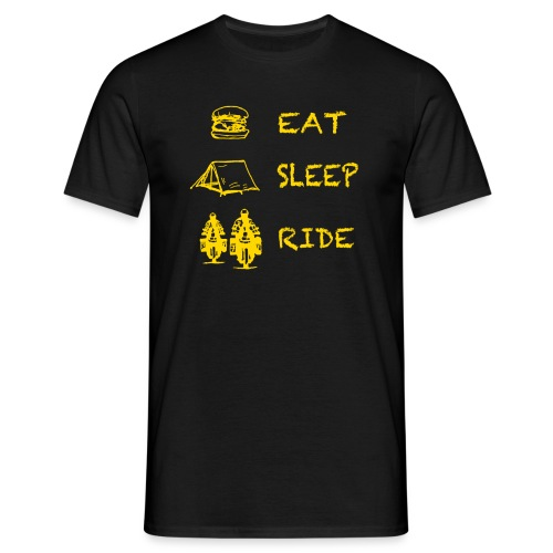 Eat Sleep Ride - Männer T-Shirt