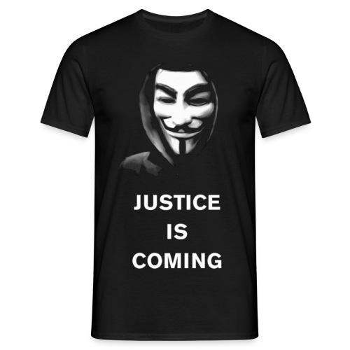 justice is coming - Miesten t-paita