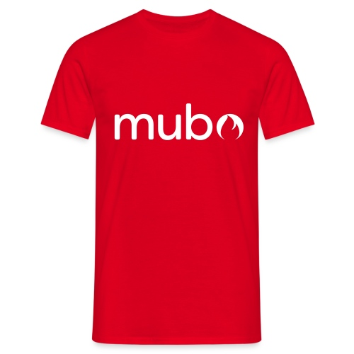 mubo logo Word White - Men's T-Shirt