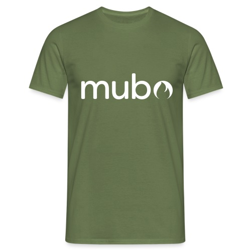 mubo logo Word White - Men's T-Shirt