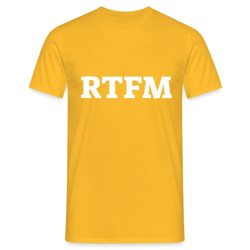 RTFM - Herre-T-shirt