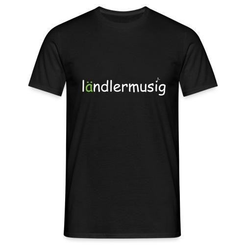 ländlermusig weiss/grün - Männer T-Shirt