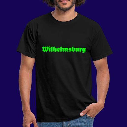 Wilhelmsburg Fraktur-Typo: Die Hamburger Elbinsel! - Männer T-Shirt