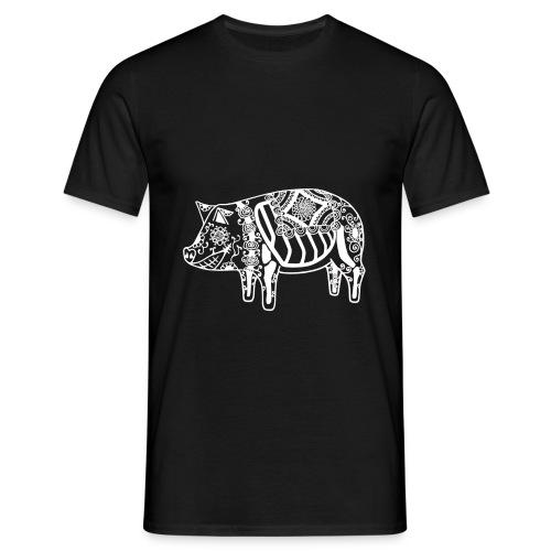 Cerdo Muerto De Dödas Daladjur vit - T-shirt herr