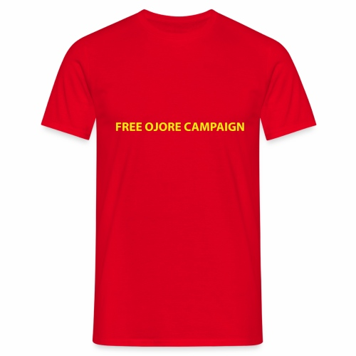 FREE OJORE CAMPAIGN yellow - Men's T-Shirt