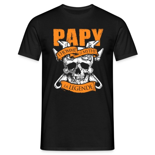Grand Père Tshirt Papy Lhomme Le Mythe La Legende - T-shirt Homme