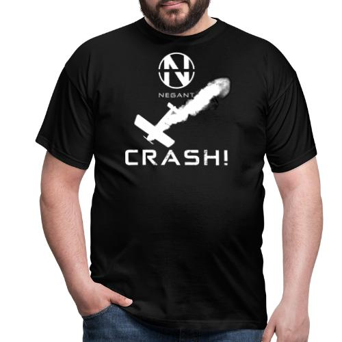 CRASH! + WE GO DOWN IN FLAMES! - Herre-T-shirt
