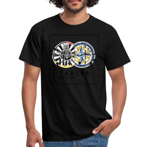 TABLER side by side - logo hell - Männer T-Shirt