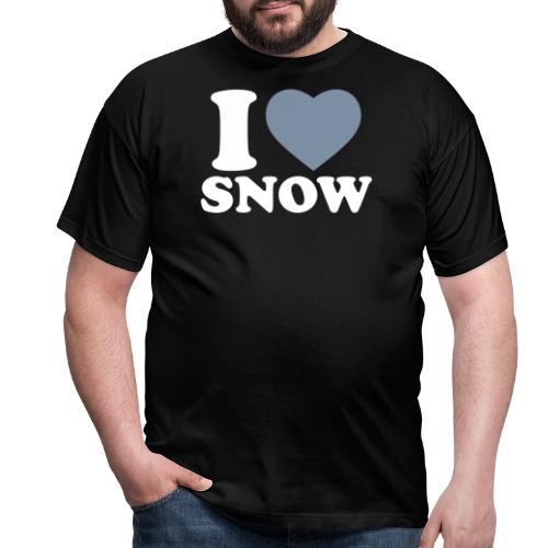 I LOVE SNOW - Männer T-Shirt
