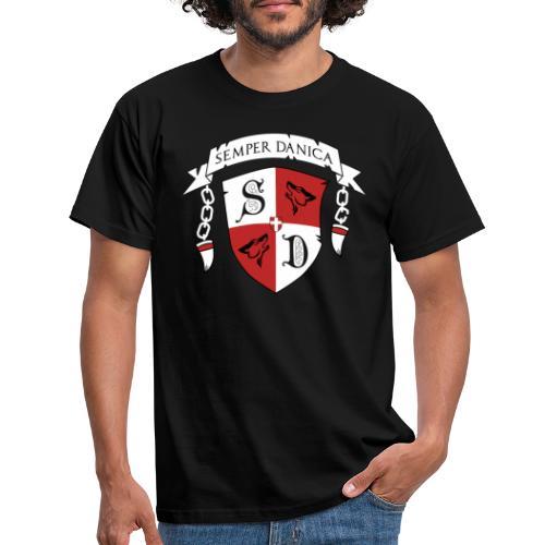 SD logo - hvide lænker - Herre-T-shirt