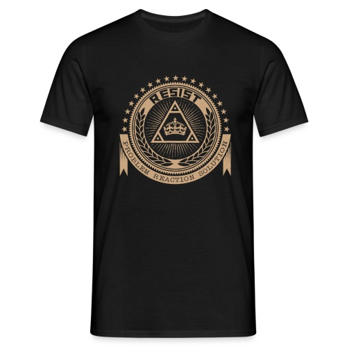 RESIST LOGO GOLD - Men's T-Shirt