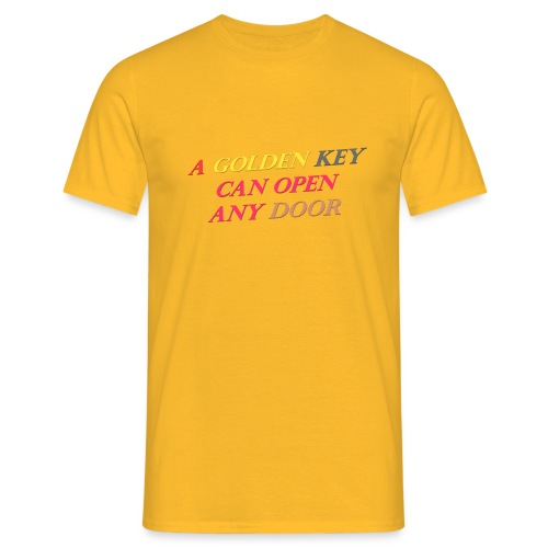 Say in English with 3D effect - Men's T-Shirt