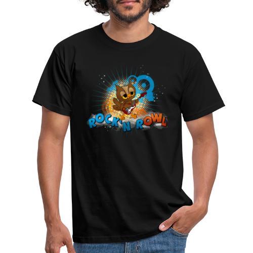 Eule mit Gitarre - rock'n rOWL - Männer T-Shirt