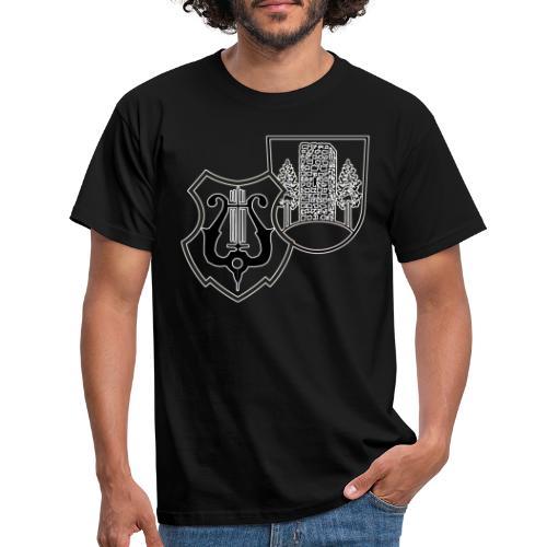 MVW Logo sw mit ws Rand transparent - Männer T-Shirt